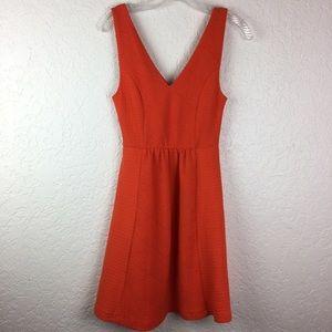 Anthropologie Maeve Dress 4 orange sleeveless bold